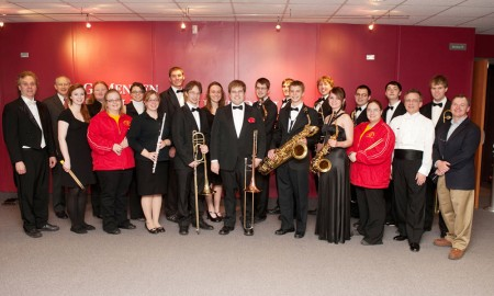 The Musical Fraternity: Kappa Kappa Psi is a musical fraternity which just started this past year. The fraternity has about 20 members who all share a passion for music. Photo Courtesy of Dr. Richard Cohen