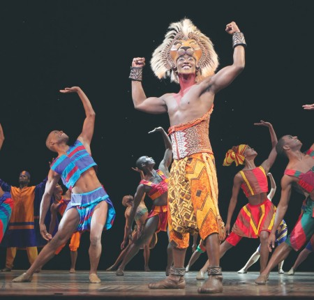 "The Lion King: Performers sing and dance during the production of a Broadway rendition of ""The Lion King."" It is currently running in Detroit from Feb. 14 through March 10. Courtesy Photo: Disney Theatrical Productions"